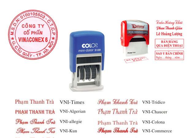 khắc dấu công ty tại Việt trì